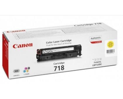 Картридж 718 желтый/yellow для Canon LBP7200Cdn, LBP7210Cdn, LBP7660Cdn, LBP7680Cx, MF8330Cdn, MF8340Cdn, MF8350Cdn, MF8360Cdn, MF8380Cdw (2659B002)
