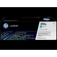 Картридж HP 305A для Color LaserJet Pro M351/M451/MFP M375/MFP M475, голубой/cyan (CE411A)