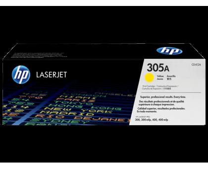 Картридж HP 305A для Color LaserJet Pro M351/M451/MFP M375/MFP M475, желтый/yellow (CE412A)
