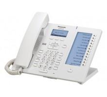 SIP-телефон Panasonic с проводной трубкой и высококачественной передачей голоса, ЖКД, 2 порта Ethernet (10/100/1000), поддержка кодеков G.722 / G.711 / G.726 (32 k) / G.729A, 24 клавиши (2 страницы по 12) с подписью на дополнительном ЖКД (KX-HDV230RU)
