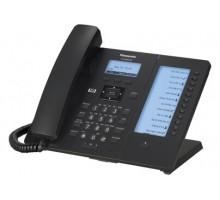 SIP-телефон Panasonic с проводной трубкой и высококачественной передачей голоса, ЖКД, 2 порта Ethernet (10/100/1000), поддержка кодеков G.722 / G.711 / G.726 (32 k) / G.729A, 24 клавиши (2 страницы по 12) с подписью на дополнительном ЖКД (KX-HDV230RUB)