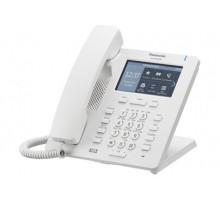 """SIP-телефон Panasonic с проводной трубкой и высококачественной передачей голоса, цветной сенсорный ЖКД 4.3"""" с подсветкой, 2 порта Ethernet (10/100/1000), поддержка кодеков G.722 / G.711 / G.726 (32 k) / G.729A, 24 клавиши (3 страницы по 8) (KX-HDV330"""