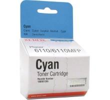 Тонер-картридж XEROX cyan/ голубой для Phaser 6110/6110MFP (106R01206)